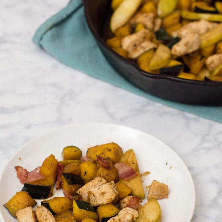 Apple, Squash and Chicken Skillet
