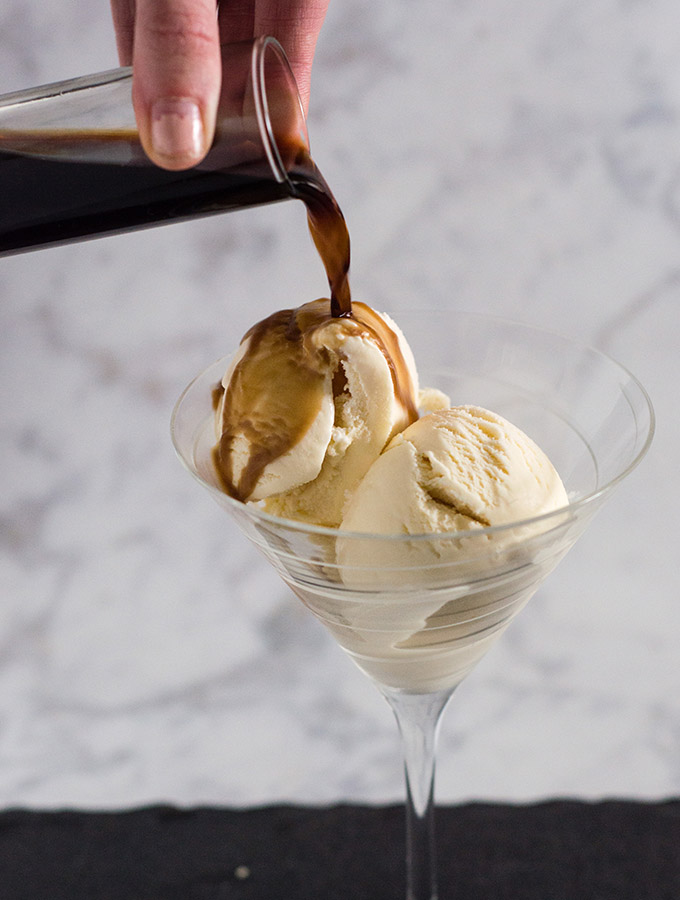 Sweet Cream Affogato #SundaySupper