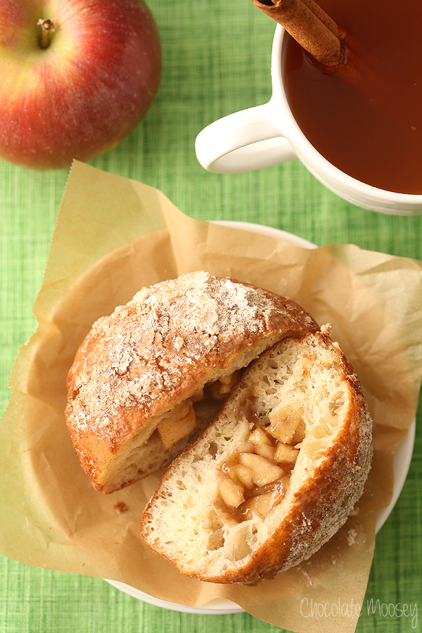 Apple Pie Filled Doughnuts by Chocolate Moosey