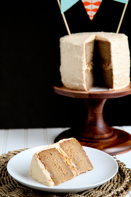 Apple Pie Cake with Caramel Buttercream by Snixy Kitchen