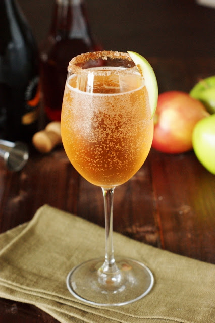 Sparkling Apple Pie Cocktail by The Kitchen Is My Playground