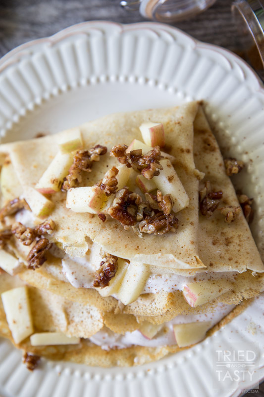 Apple Pie Crepes by Tried and Tasty