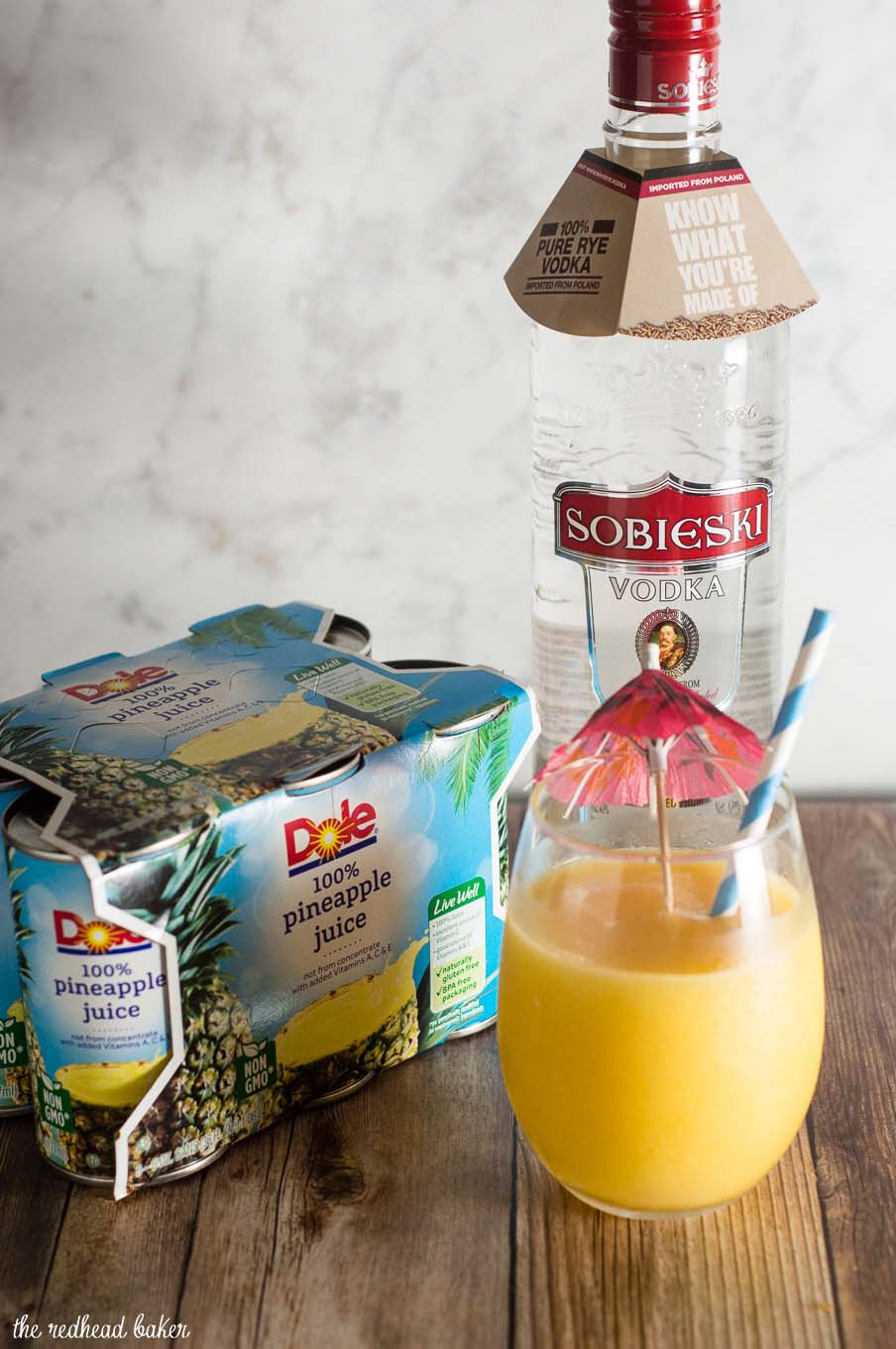 As cooler weather sets in, imagine you're in warmer weather with Caribbean Slushies, frozen cocktails with coconut and pineapple juice. #CreateYourCocktail #ad