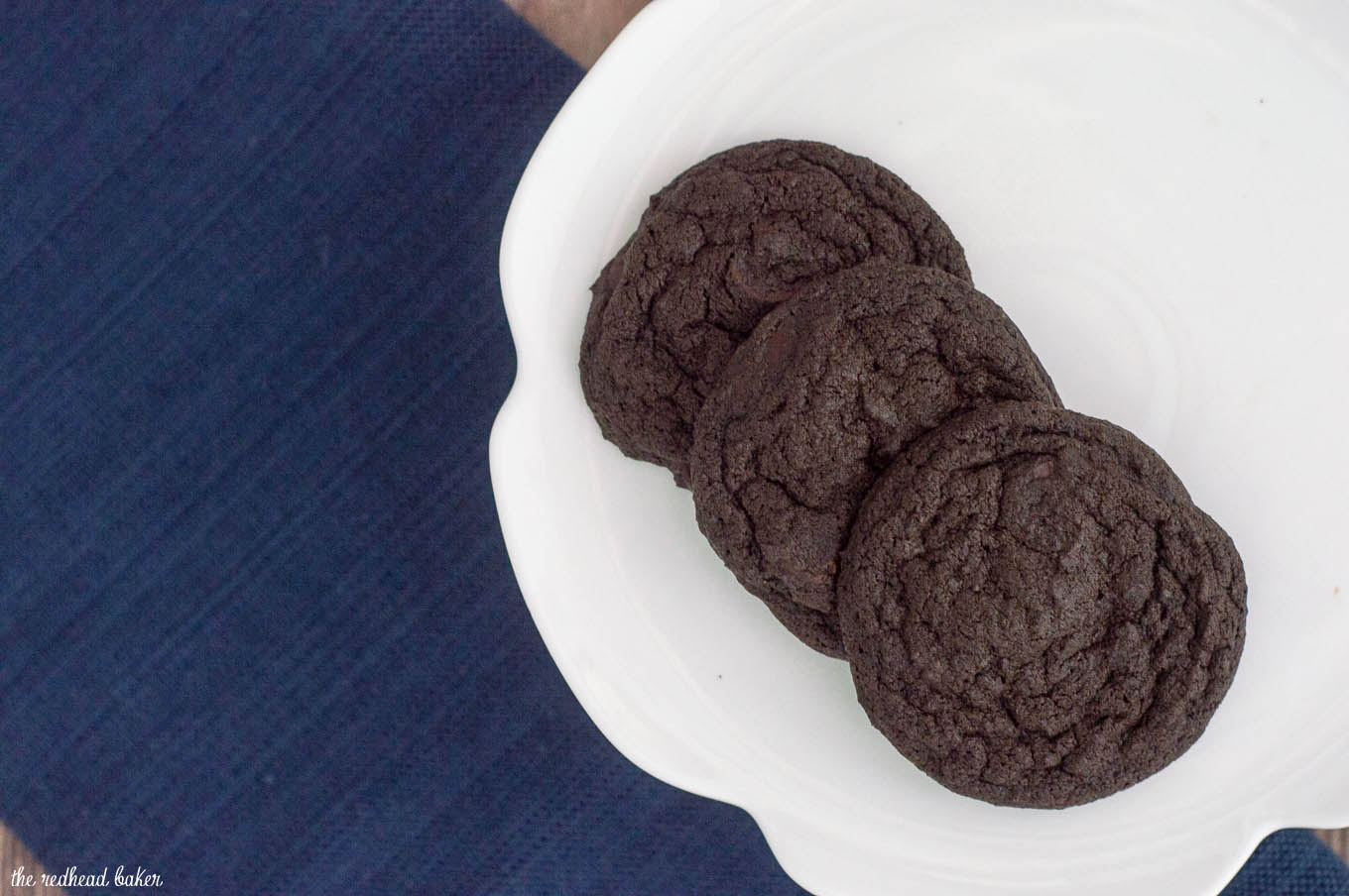 Chocolate espresso cookies are rich and fudgy. Espresso powder enriches the flavor of the chocolate and adds coffee flavor, too. #Choctoberfest