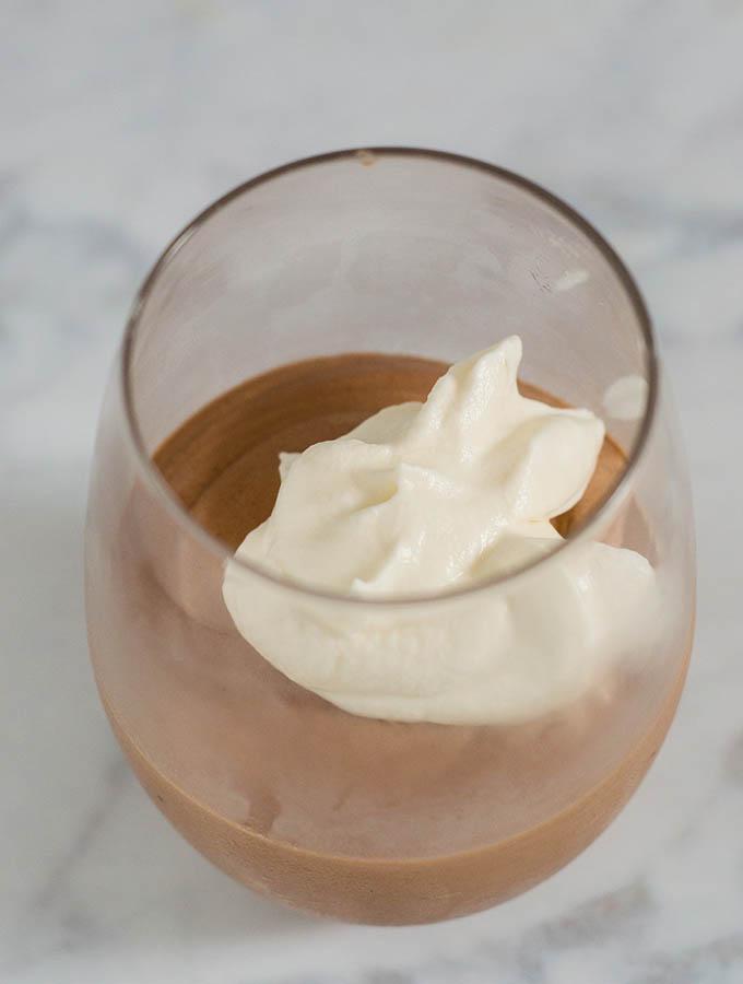 Irish Coffee Chocolate Mousse #Choctoberfest