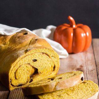 Pumpkin Cinnamon Raisin Bread #PumpkinWeek