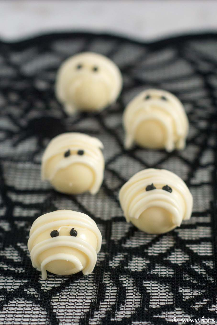White Chocolate Mummy Truffles by The Redhead Baker