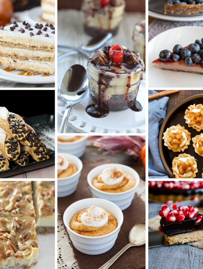 Don't overcrowd your oven this Thanksgiving -- make a no-bake dessert! Here are 60 options for no-baking Thanksgiving desserts.