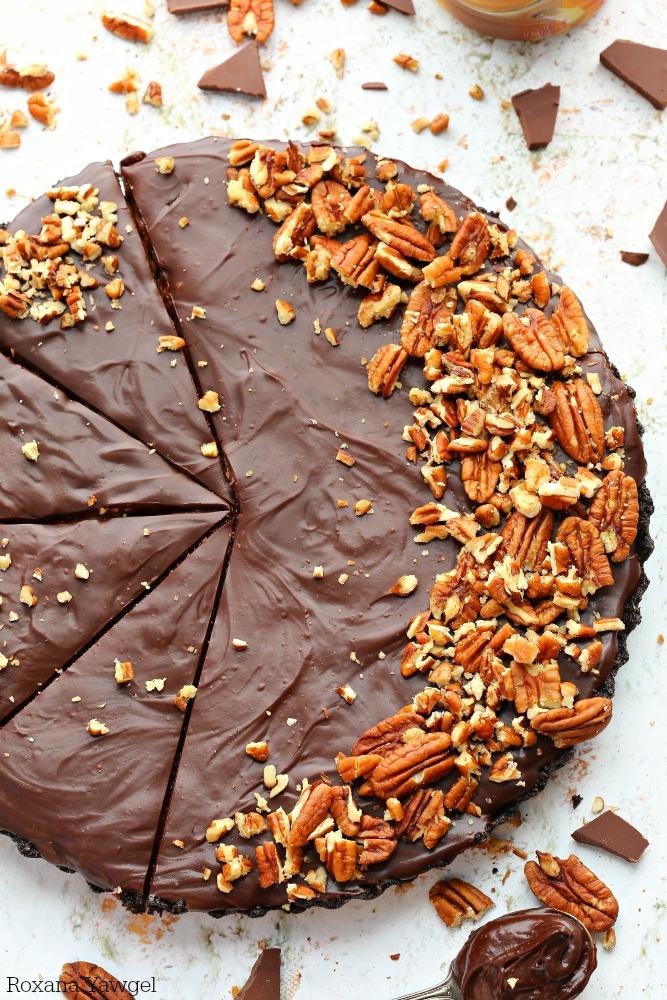 No-Bake Chocolate Pecan Pie by A Treats Affair