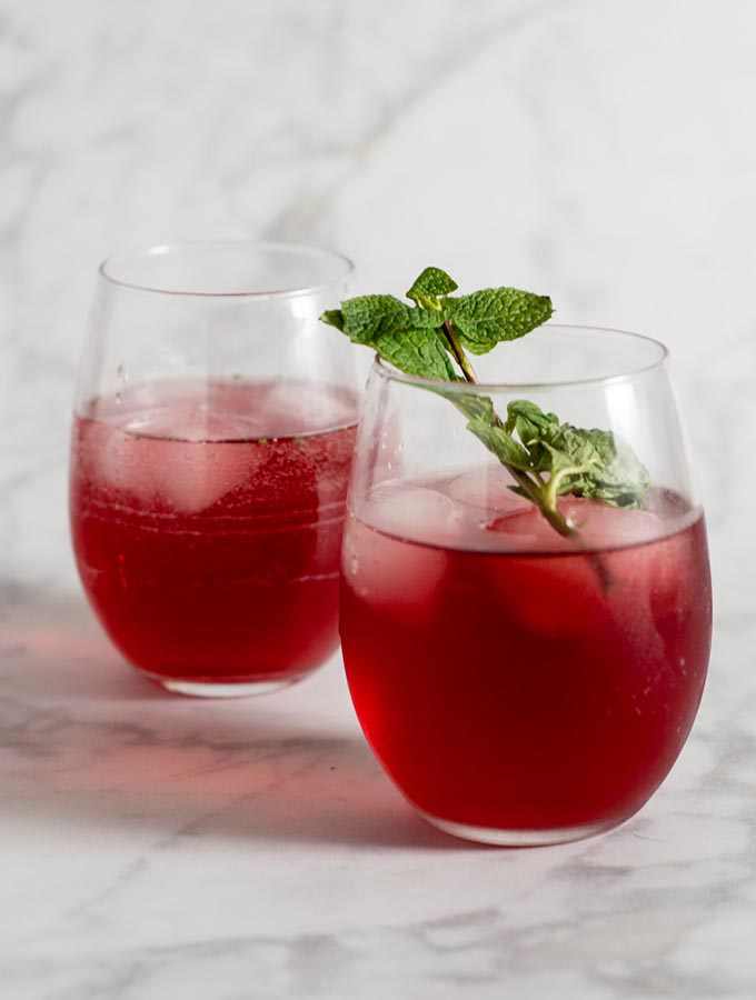 Pomegranate Green Tea Mojitos #ProgressiveEats