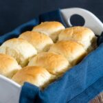 Fluffy potato rolls are soft, light and more flavorful than plain rolls. They stay soft for several days, so they're ideal for Thanksgiving. #SundaySupper