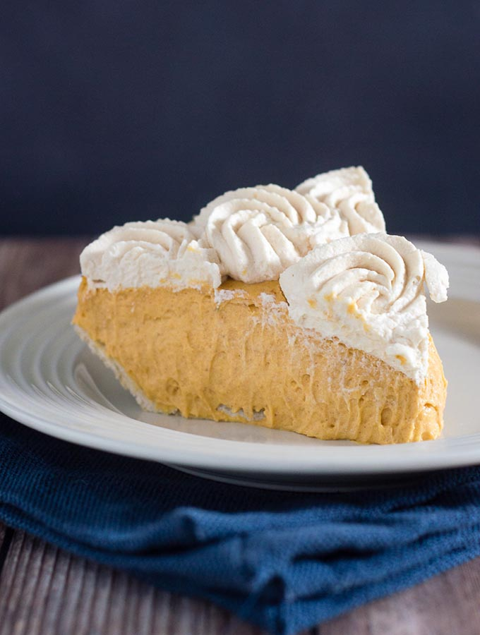 Pumpkin Cream Pie with Salted Caramel Whipped Cream by The ...