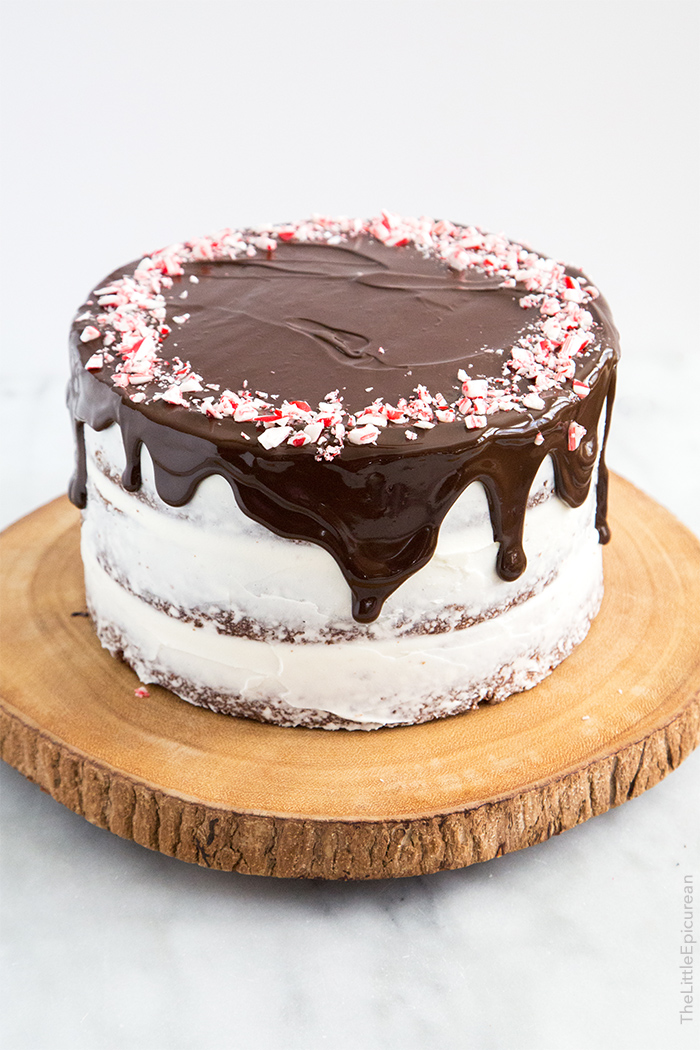 Chocolate Peppermint Cake by The Little Epicurean