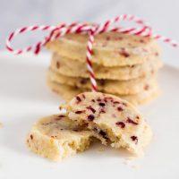 Cranberry-Orange Shortbread Cookies #IntnlCookies