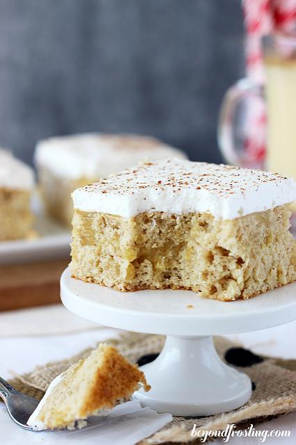 Ultimate Eggnog Poke Cake by Beyond Frosting