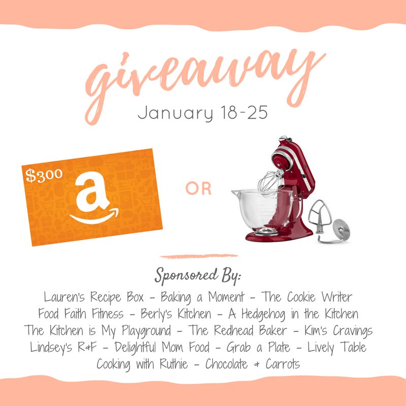 Giveaway - Pick Your Prize - KitchenAid Mixer or Amazon Gift Card