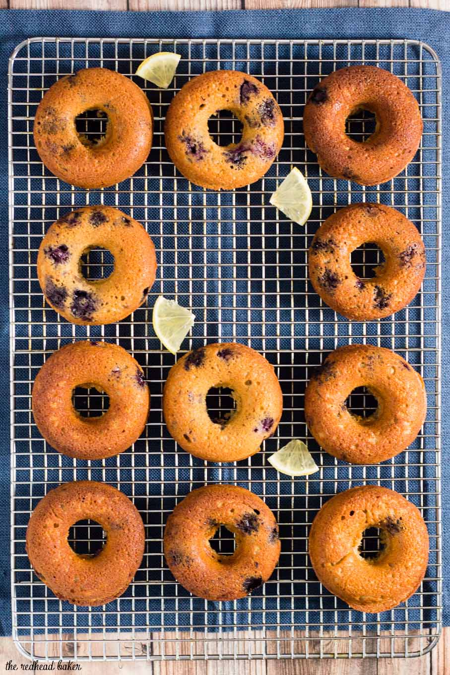 A new year often brings a resolution of eating healthier. I lightened up these blueberry lemon donuts so you can snack guilt-free!