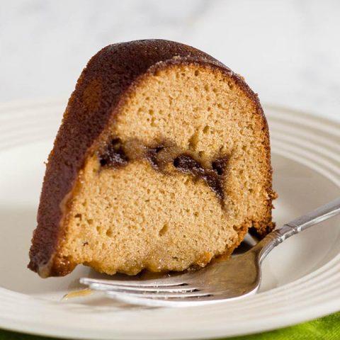 Apple Butter Pound Cake with Caramel Glaze