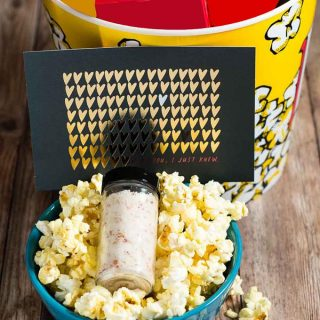 Movie Night In Gift Box with Parmesan Bacon Popcorn Salt