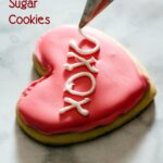 Conversation heart sugar cookies decorated with royal icing deliver your own personal message to your Valentine sweetheart!
