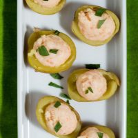 Smoked Salmon Stuffed Baby Potatoes