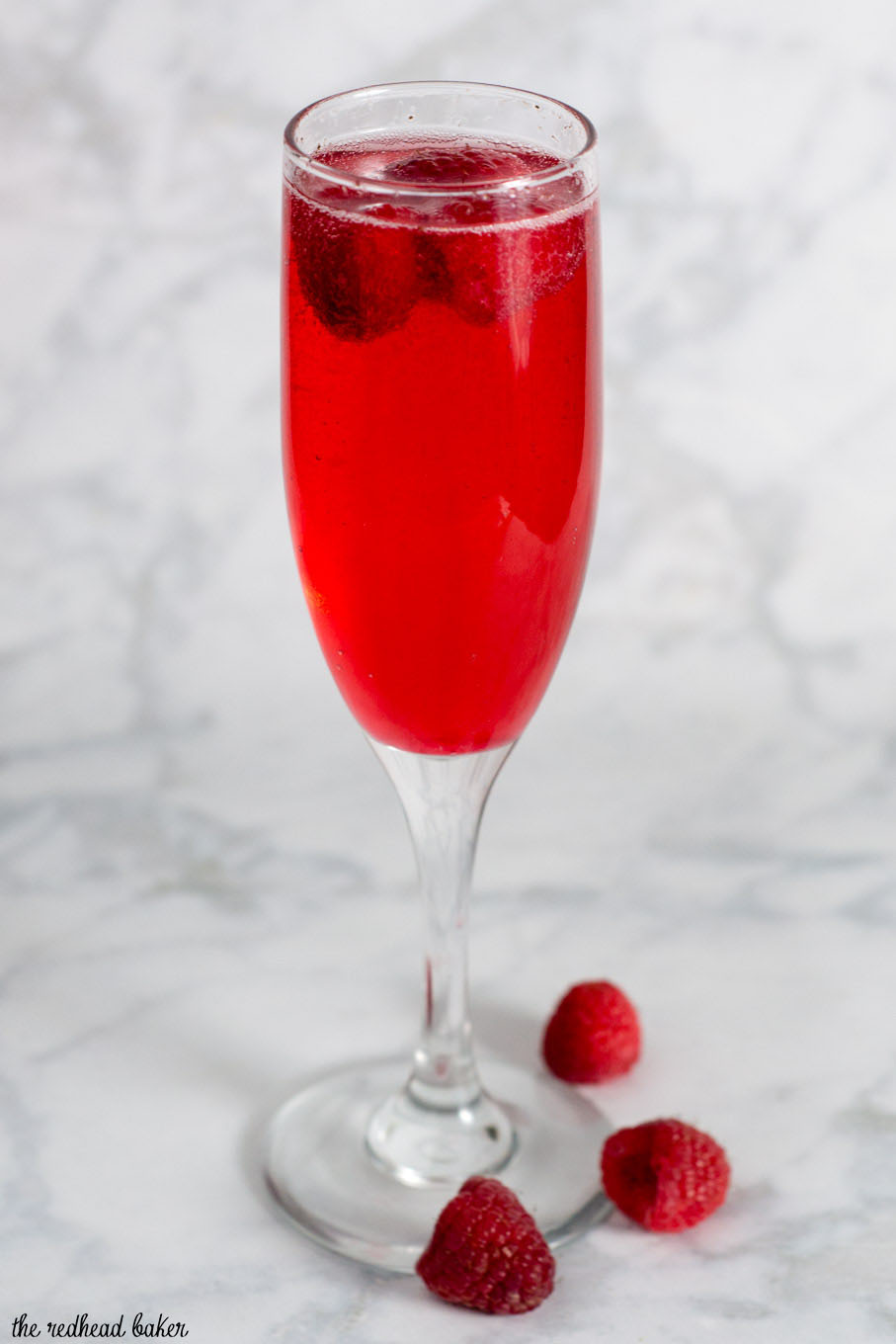 Raspberry Bellini for Valentine's Day by The Redhead Baker
