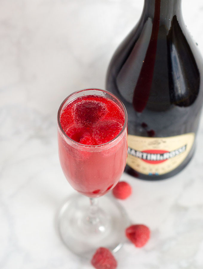 Valentine's Day Raspberry Bellini