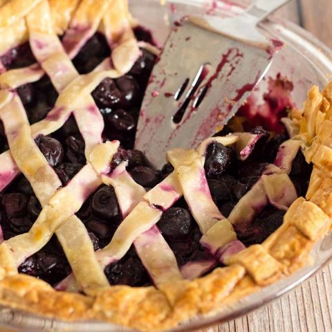 Drunken Cherry Vanilla Pie