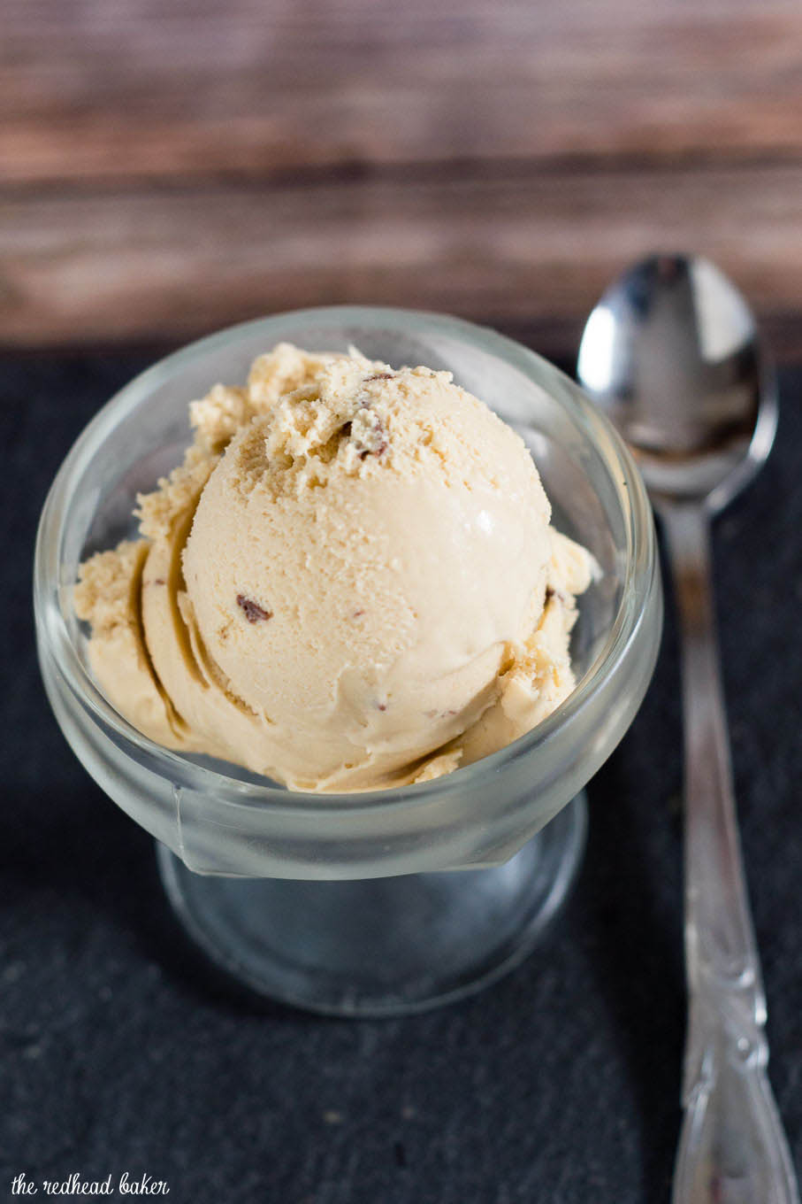 What's better than Irish cream? Irish cream ice cream with a chocolate swirl! Irish cream is blended into custard and churned, then melted chocolate is swirled into the ice cream.