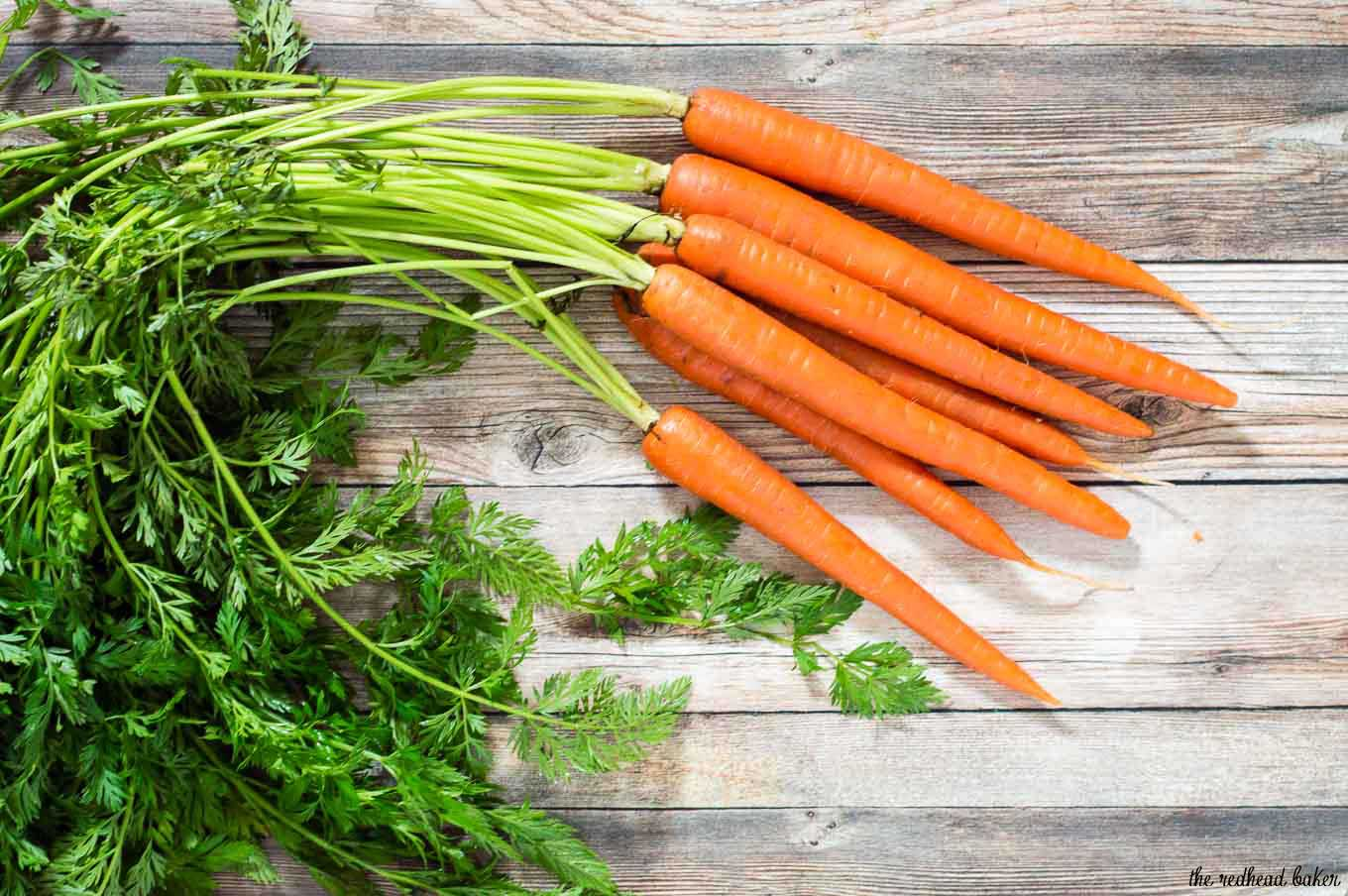 Butter-braised spring carrots are a simple yet flavorful side dish. A garnish of fresh basil complements the sweeter carrots perfectly.
