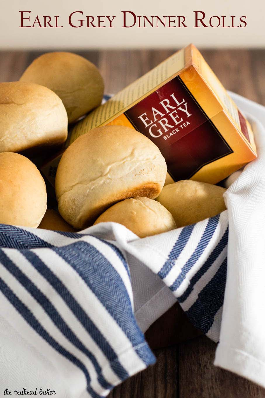 Earl grey dinner rolls are infused with earl grey tea, with subtle flavors of bergamot and lemon. Serve warm with a pat of salted butter.