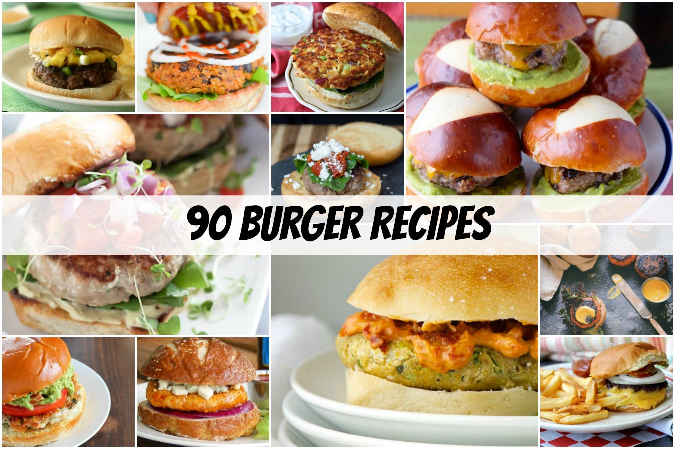 May is National Burger Month! I've put together a list of 90 burgers you'll want to enjoy all summer long.