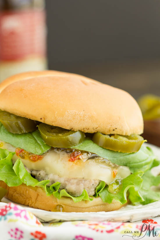 Spicy Jalapeno Pepper Jelly and Basil Sauce Pork Burgers by Call Me PMC