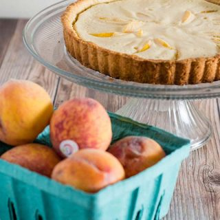 Peach Custard Tart #BrunchWeek