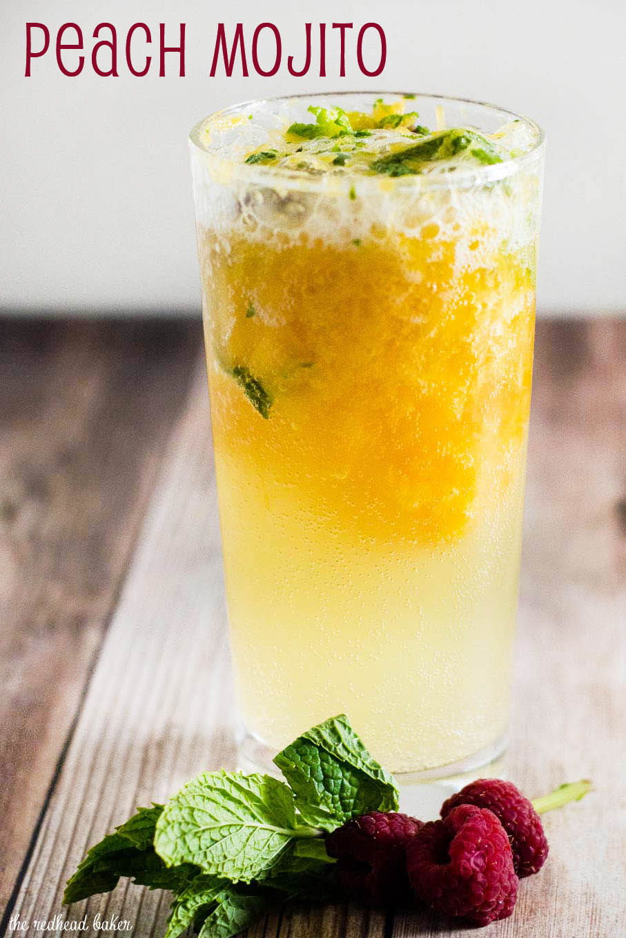Summer is almost here! Enjoy a refreshing peach mojito cocktail and enter to win a $200 Target gift card to help yourself get ready for summer!