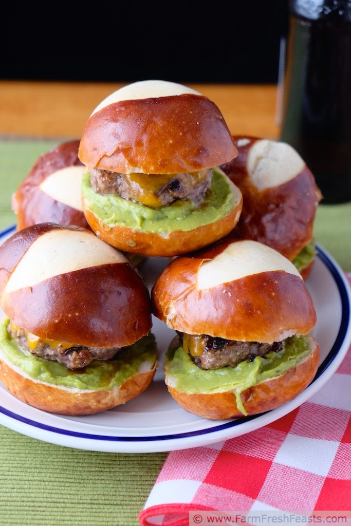 Pretzel Roll Sliders by Farm Fresh Feasts