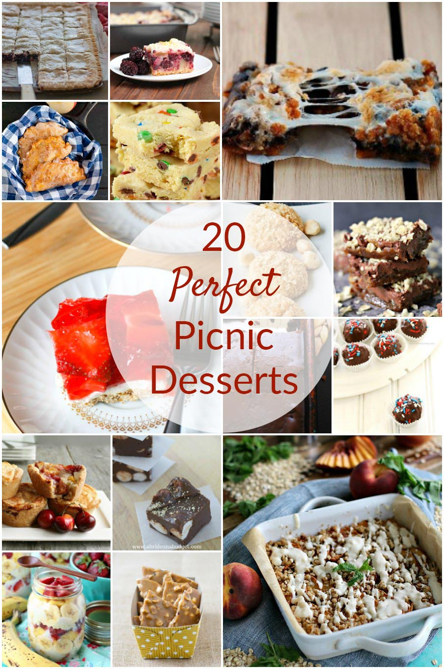 No picnic should be without dessert. Here are 20 delicious picnic desserts that will provide the perfect sweet end to your outdoor meal.