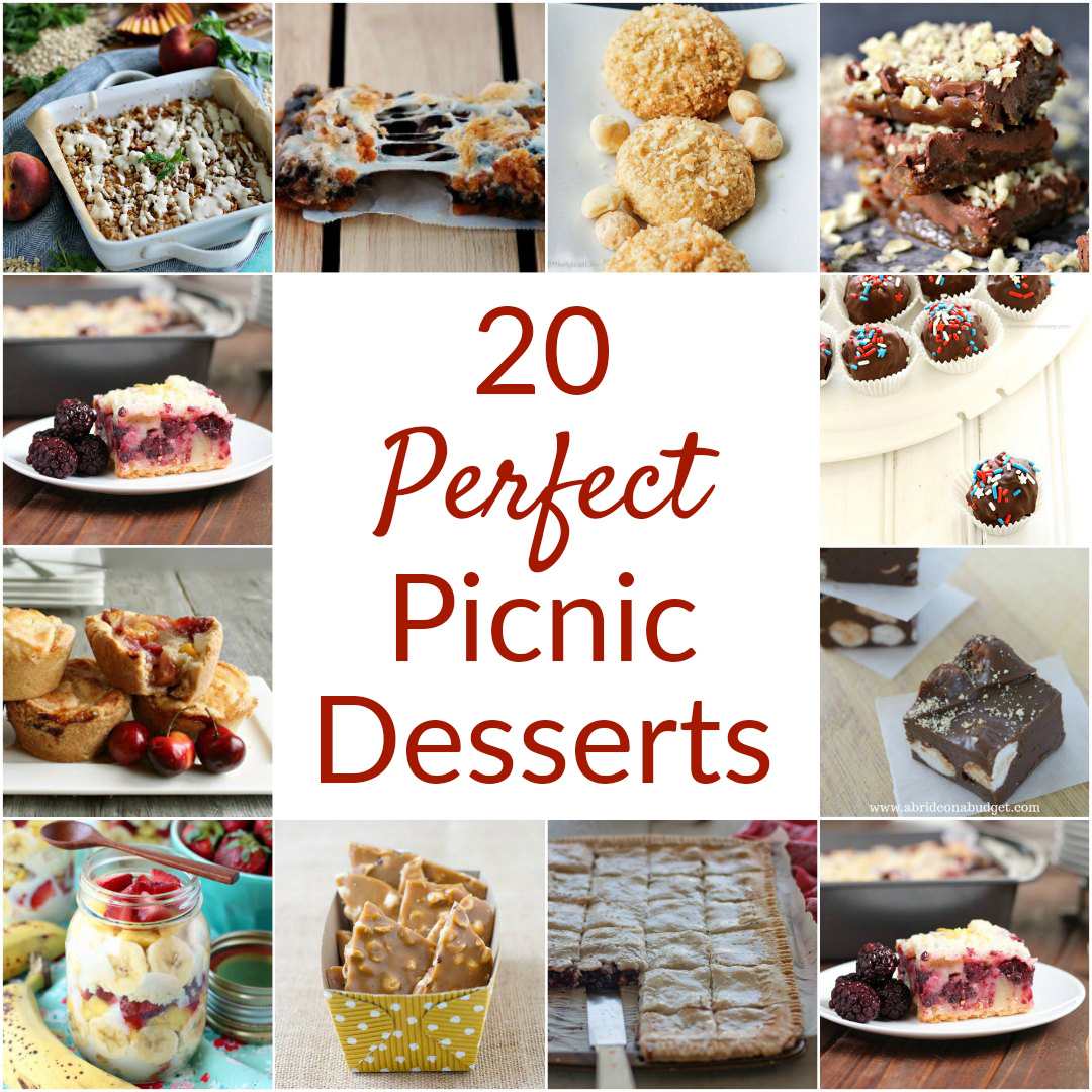 20 Perfect Picnic Desserts featured photo collage