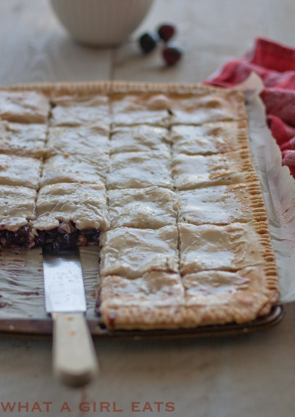 Apricot Cherry Slab Pie by What a Girl Eats