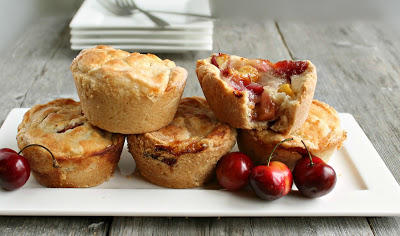 Mini Cherry Muffin Cup Pies by Hungry Couple