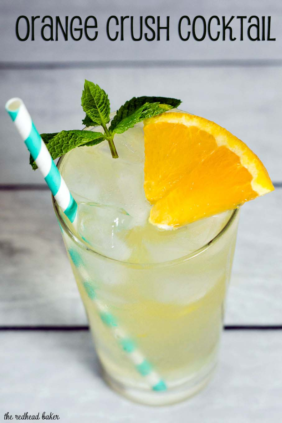 The Orange Crush Cocktail was invented in Baltimore, but should be a mainstay of every summer outdoor party! It's cold, refreshing and delicious! #CookoutWeek