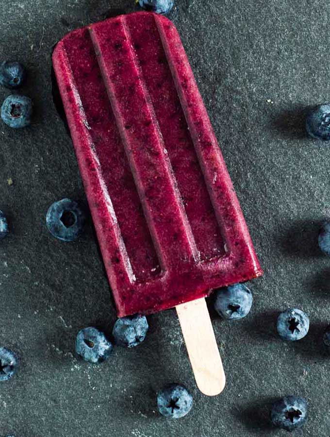 Frozen Blueberry Pops #NationalBlueberryMonth