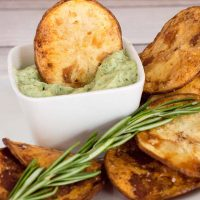 Rosemary Potato Chips with Herb Aioli