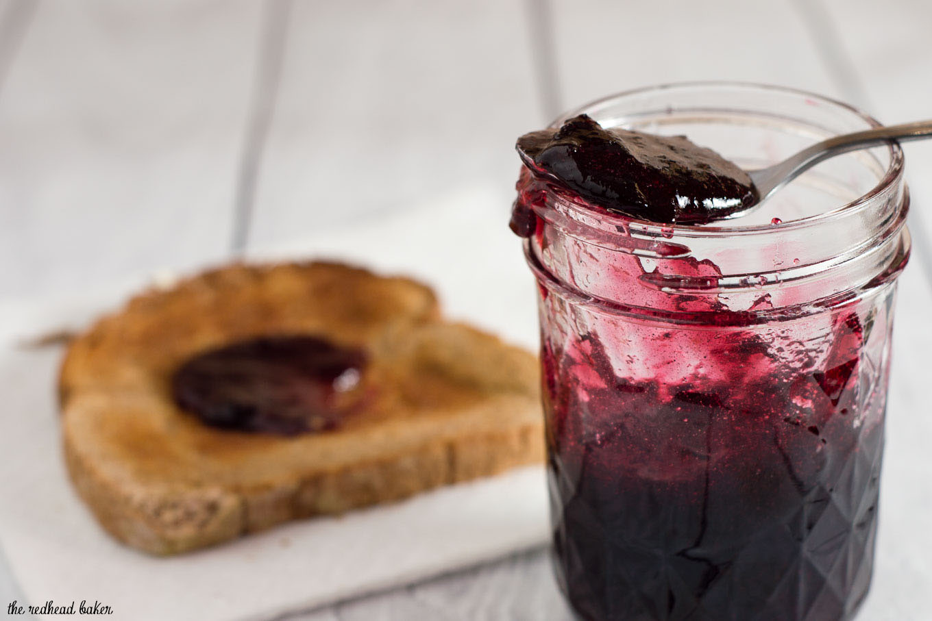 "Cherry stout jam combines fresh farmers market cherries and chocolate stout beer for a rich, delicious jam that lets you enjoy a taste of summer all year long! #FarmersMarketWeek"" width="
