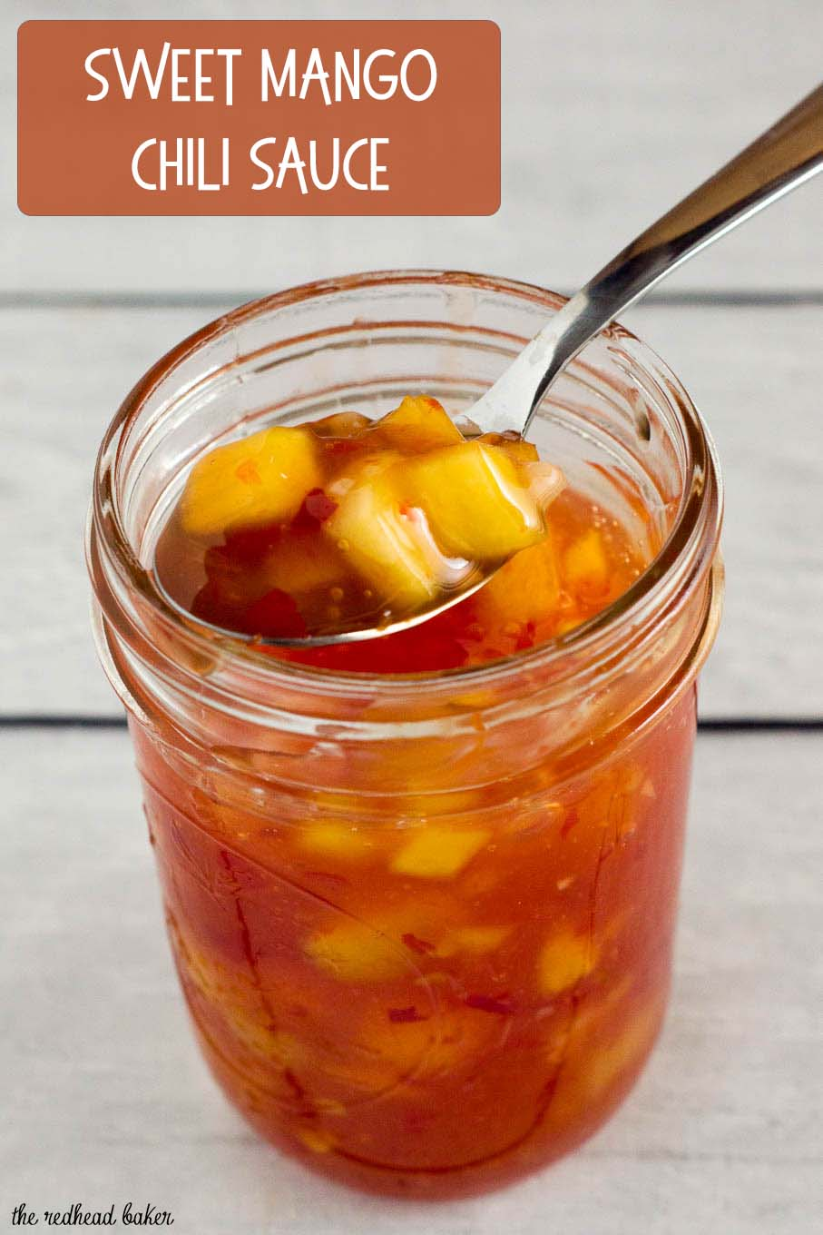 This sticky, sweet mango chili sauce is easy to make and so addictive! Use it to dip shrimp, chicken or fresh spring rolls.