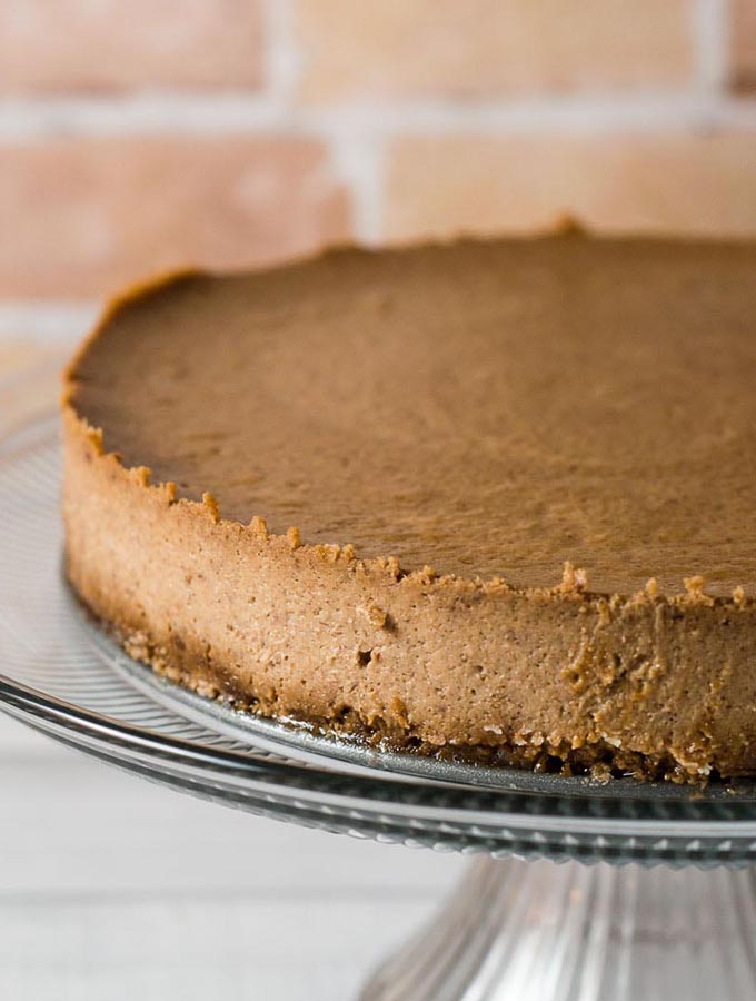 Apple Butter Cheesecake with Gingersnap Crust #AppleWeek