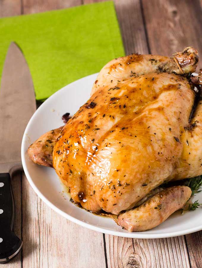 Mrs. Patmore's Calvados-Glazed Chicken #ProgressiveEats