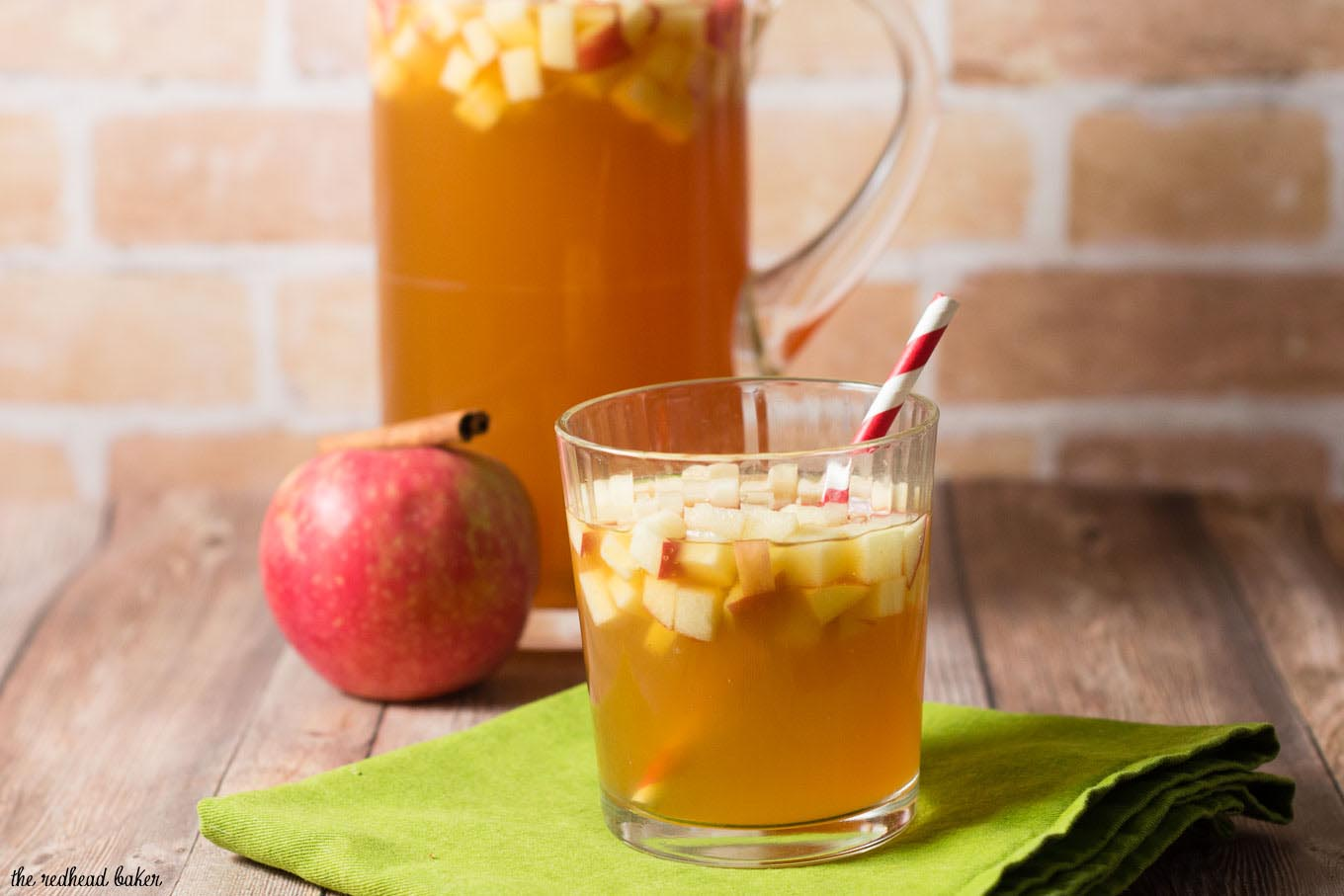 Cinnamon Apple Cider Sangria by The Redhead Baker #AppleWeek