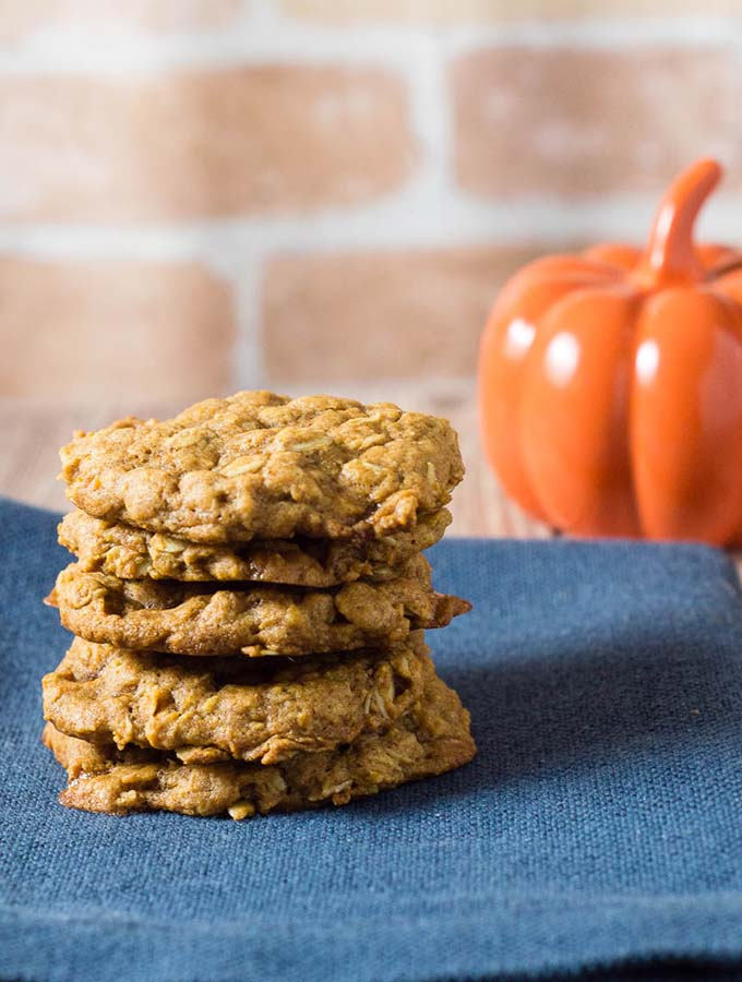 Brown Butter Pumpkin Oatmeal Cookies #PumpkinWeek