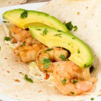 Chipotle Lime Shrimp Tacos with Pineapple Slaw and Avocado